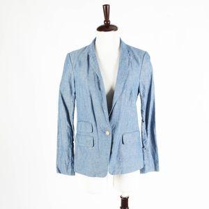 ANN TAYOR LOFT – Spring Chambray Jacket – Size 6